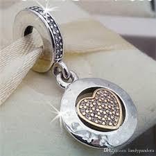 2018 2017 spring 925 sterling silver signature heart dangle charm bead fits european pandora jewelry bracelets necklaces pendant from landypandora