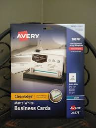 Avery Com Templates 28878 2x Avery White Clean Edge Business Card 28878 Ink Jet 90 Cards Each