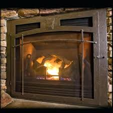 ventless gas fireplace doors furniture wonderful glass energy efficiency with black stainless steel design also burner