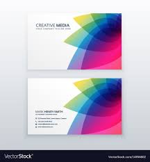 Card Design Template Flower Business Card Design Template