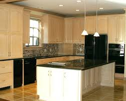 maple kitchen cabinets with black appliances. 78 Beautiful Contemporary Cream Colored Kitchen Cabinets With Glaze Glazed Maple Black Appliances Design Archived On Category Painting Your Corner W