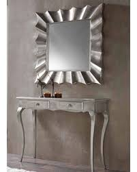 modern console table with mirror  unique decoration and