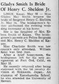 Gladys Smith and Henry C. Sheldon's wedding (14 May 1952) - Newspapers.com