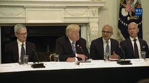 president trump partites in an american technology council roundtable