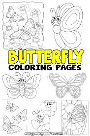 It's posted at nature category. Butterfly Coloring Pages Free Printable From Cute To Realistic Butterflies Easy Peasy And Fun