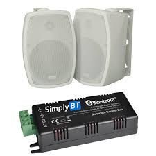 30w bluetooth outdoor speaker system inc 2 x 4 on wall speakers