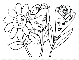 Spring Flower Coloring Pages At Getdrawingscom Free For Personal