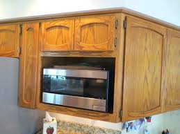 the original oak doors drawer frontouldings were discarded modifying microwave cabinet desk knee updated