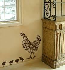 Kitchen Stencil Dominique Chicken Stencil 2 Overlays Easy Wall Decor With