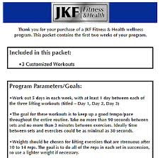 Total Body Gym Workout Chart The Total Body Training Fitness Program By Jkf Fitness Health