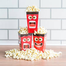 Decorative Popcorn Boxes Fun Movie Face Popcorn Box Pack of 60 Popcorn Boxes 56
