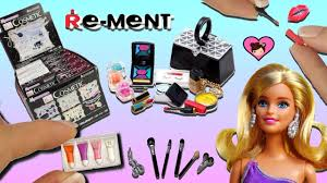 barbie doll miniature make up collection dollhouse toy cosmetic rement