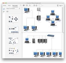 Convert A Computer Network Diagram To Adobe Pdf Conceptdraw