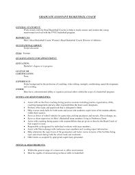 Coaching Resume Example Basketball Coach Resume Example Soaringeaglecasinous 22