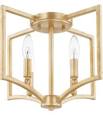capital lighting 219441cg regan 4 light 15 inch capital gold flush mount ceiling light photo
