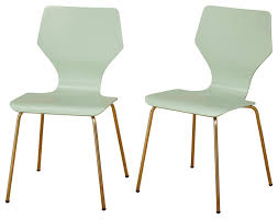 ella mid century modern bentwood dining chairs mint set of 2