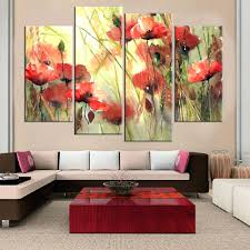 ... Frameless Flower Print On Canvas Wall Painting Art And Poster Home  Decoration Oil Paingting Picturemodern Techniques ...