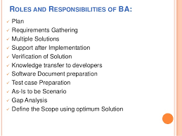 roles and responsibilities of ba ba roles and responsibilities