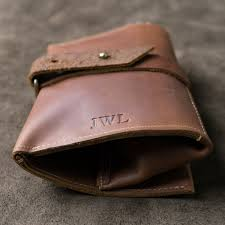 50 personalized groomsmen gift fine leather pipe roll