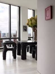 awesome warren s apartment with unusual designer s furniture eccentric warren s apartment with unusual designer s furniture with white black wall dining