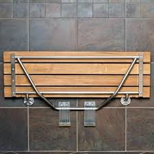 wall mounted shower bench folding seat with legs