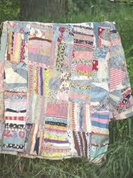 vintage quilt top, hand-stitched crazy quilt patchwork in cotton ... & vintage quilt top, hand-stitched crazy quilt patchwork in cotton print  fabric Adamdwight.com