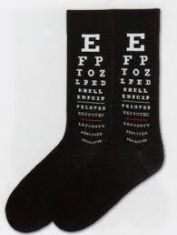 K Bell Mens Eye Chart Socks