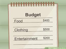 Project On Family Budget For A Month How To Spend Money Wisely With Pictures Wikihow