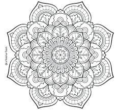 Mandala Coloring Pages Easy Mandalas Online Theorangechefco