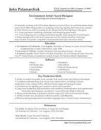 Game Animator Sample Resume Resume Game Designer For Study shalomhouseus 1