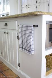 microwave in island. Drawer Handle Used To Hold Towel On Kitchen Island Microwave In
