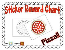 Sticker Reward Chart Pizza Stickers Classroom