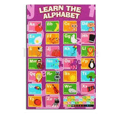New Alphabet Poster Learn My Abc Wall Chart Fun Childrens
