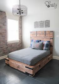 stylish full bed and queen bed diy full or queen size storage bed shanty 2 chic