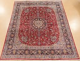 persian mashad hand knotted wool red navy ont oriental rug carpet 10 x 11