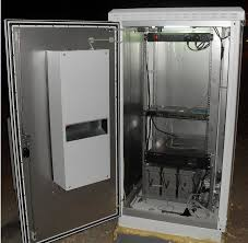OUTDOOR TELECOM CABINET WITH AIR CONDITIONER (OUTDOOR BATTERY CABINET)