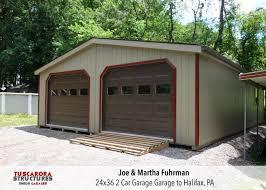 2 Car Garage Designs A 24x36 2 Car Garage We Built And Assembled For Joe Martha