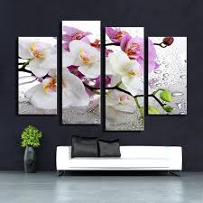 4pcs white orchid wall painting print on canvas for home decor ideas paints on wall pictures on orchids wall art with 4pcs white orchid wall painting print on canvas for home decor ideas