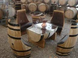 wine barrell furniture. barrel seats and tablefor my wine cellartasting room barrell furniture