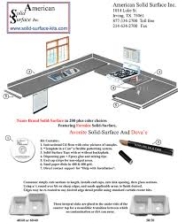 american solid surface countertop
