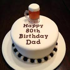 80th Birthday Cake Ideas For Dad Dads Images With Name Stellarmedia