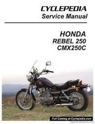 honda rebel service manual honda cmx250c rebel 250 cyclepedia printed motorcycle service manual 800 42