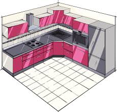 Basic L-Shaped Kitchen Plan
