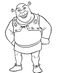 Small Picture Shrek Coloring Pages