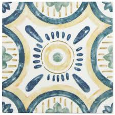 Circle Tiles Merola Tile Bourges Isola 7 7 8 In X 7 7 8 In Ceramic Wall Tile