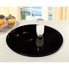 round black glass spinning tray
