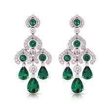 emerald earrings fabergé emerald chandelier earrings