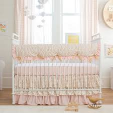 good looking nursery bedding sets for girl 22 pale pink and gold chevron crib large furniture magnificent nursery bedding