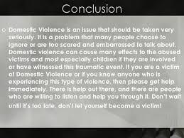 domestic violence  16 conclusion <ul><li>domestic violence