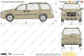 The-Blueprints.com - Vector Drawing - Chevrolet Uplander LWB